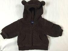 Cute Baby Gap Gap Kids Size 3-6 Months Brown Fleece Teddy Ears Jacket