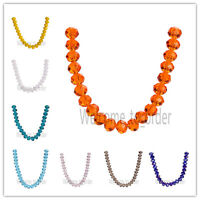 14mm Briolette Faceted Crystal Glass Bead 5040# Rondelle Loose Spacer Beads