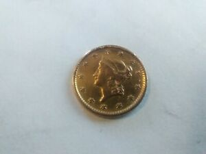 1854 Gold Dollar, $1 Gold Liberty Type 1, Collector Coin