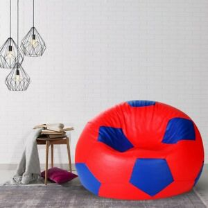 heimdekor Football Bean Bag Cover without Beans (Red & Blue)
