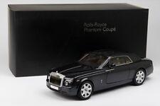 08861DBK Rolls Royce Phantom Coupe 2-door 2008 Diamond Black Silver Kyosho 1 18