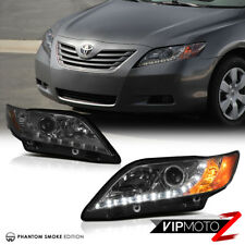 2007-2009 Toyota Camry LE/SE/CE Projector Smoke Headlight L+R DRL Daytime Lamp