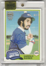 Harold Baines 1981 Topps Archives Buyback Rookie Signature Autograph AUTO RC