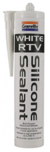 Granville White RTV Silicone Sealer Flexible High Temp Adhesive & Sealant 310g