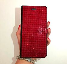 iPhone 11 Pro Max Wallet Case Made with Red Swarovski Crystals Bling Diamonds
