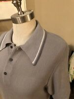 Sears brand sz small vinatge sweater for men in Gray acrylic. Short sleeved.