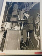More details for genuine signed charlie watts 7x5 rolling stones photo autograph very rare
