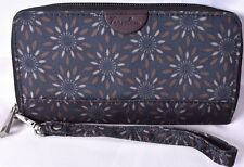 TRAVELON RFID Blocking Women's Clutch Wristlet Wallet (Navy Blue Floral) >NEW<