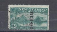 New Zealand KEVII 1907 2/- Official SG066 Cat £140 VFU J4979