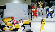 Bandai Red Mighty Morphin Power Rangers remote control toy + 4 action figures