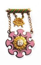 10k Gold Odd Fellows Daughters of Rebekah Brooch Pin 22mm x 38mm Illinois 15