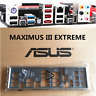 NEW Shield Backplate FOR ASUS MAXIMUS III EXTREME IO I/O Shield Back Plate
