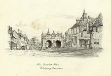M.S. Smith, Market Hall, Chipping Campden – Original 1871 pen & ink drawing