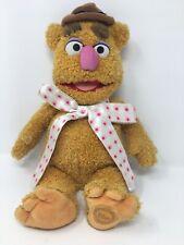 "Disney Store Fozzie The Muppets Bear Shaggy Plush Toy 16"" Genuine Exlusive"
