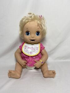 Vintage 2006 Hasbro Baby Alive Doll Soft Face Interactive Blonde Hair