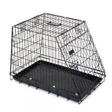 Transportkäfig Drahtkäfig Hundebox faltbar abgeschrägt schwarz93,5x57,5x65 cm S*