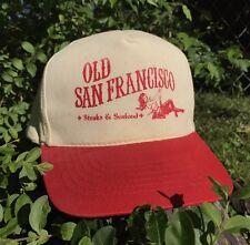 OLD SAN FRANCISCO STEAK SEAFOOD HAT SHOWGIRL SWING PRINT SUPREME CAP VTG