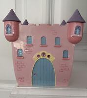Princess Castle Tissue Box Cover Holder Pink Lavender Blue