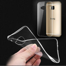 Premium Transparent Crystal Clear Soft TPU Case Skin Cover For HTC U12+ M10 M9