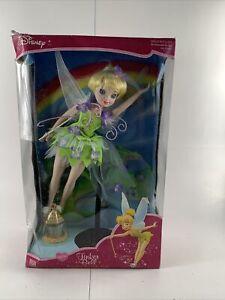 Disney Tinker Bell Porcelain Keepsake Dolls 2003 Brass Key New in Box