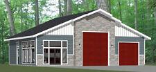 50x42 1-Car 1-RV Garage 1 Br 1 Ba - PDF FloorPlan - 1,973 sqft - Model 1G