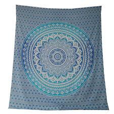 Tagesdecke Mandala Flower blau türkis 230 x 210 cm Überwurf Vorhang Decke