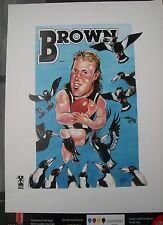 COLLINGWOOD 1990's Club Ten Poster 64x44cm GAVIN BROWN by HARV EX+ Cond
