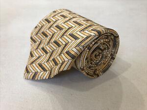 Robert Talbott Men's Gold Novelty Geometric Belts Silk Tie $98