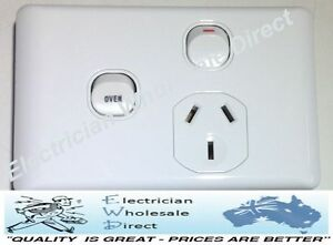Single Power Point GPO with OVEN 35 Amp Extra Switch Wall Outlet BRAND NEW