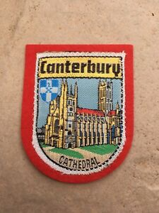 SAMPSON'S SOUVENIR CLOTH PATCH, BADGE of CANTERBURY CATHEDRAL , Kent