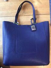 Brand NWT Lauren Ralph Lauren Acadia Tote Beautiful Blue! MSRP$158