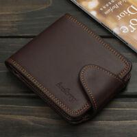 Men Leather Wallet Credit Card Holder Purse Bifold Money Clip Pockets Coin