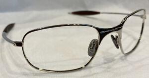 Genuine Oakley Square Wire Rx Chrome Eyeglasses Frames