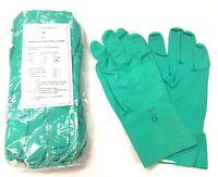 10 pack - WORK SAFETY GLOVES 15ml FLOCKLINED NITRILE GLOVES ABRASION RESISTANCE