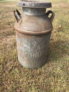 Vintage United Farmers Boston(MA), 10+ Gallon Milk Can /Jug , N.E. advertising
