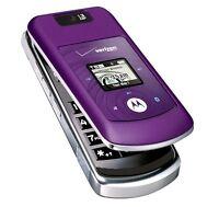 Motorola Moto W755 - Purple (Verizon) Cellular Phone Page Plus Straight Talk