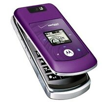 Motorola Moto W755 - Purple (Verizon) Cellular Phone Page Plus Straight Talk