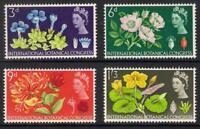 GB 1964 sg655p-58p Tenth International Botanical Congress Phosphor set MNH