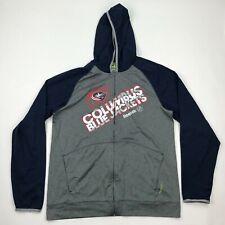 Columbus Blue Jackets Reebok Center Ice Men Blue Gray Zip Up Hood Jacket sz L
