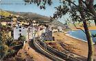 Cartolina - Postcard - Illustrata - Ospedaletti - panorama - ferrovia anni '20