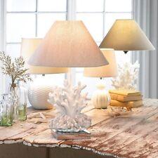 Oceanside Faux White Coral Beach Home Nautical Table Lamp