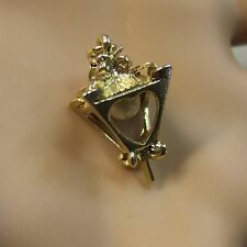 9 ct gold second hand pearl lamp charm