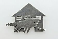 Vintage 1987 Roberta & David WIlliamson Petie Abstract Show Dog House Brooch Pin