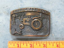 Vintage CASE DC Tractor Belt Buckle 1939 Limited Edition SC Spec Cast Dark Brass