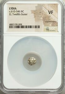 WORLDS OLDEST COIN Series NGC VF LYDIA Alyattes Croesus 610-546 BC 1/12 stater