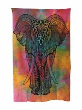 INDIAN Wall Hanging Tapestry Elephant Tie Dye Ethically Sourced