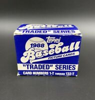 1988 Topps Complete Set Traded Series Unsealed Box Baseball Cards MLB Ex-Mint