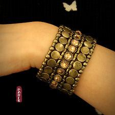Bracelet Metal Cuivre Ambré Punk Style Elastic Original Soirée Mariage CT1