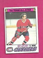 1977-78 OPC # 200 CANADIENS GUY LAFLEUR ALL STAR EX CARD  (INV# D2825)