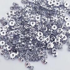 925 Silver Earring Back Stopper Earplug Jewelry Stud Earrings Findings DIY